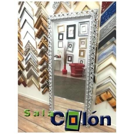 Espejo vestidor plata labrado