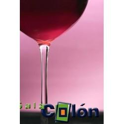 Lámina desenfoque copa de vino