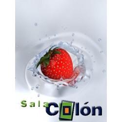 Lámina fresa sobre agua