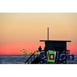 Lámina puesta de sol en el mar