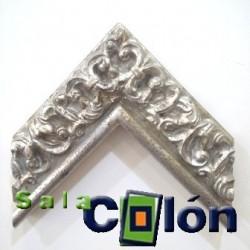Moldura Artesanal plata labrada