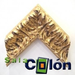 Moldura oro brillo labrada