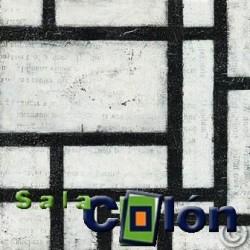 Lámina abstracta blanco y negro I
