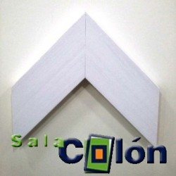 Moldura plana blanca 11 cms.