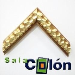 Moldura labrada convexa oro 6 cms.