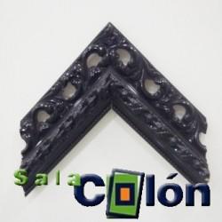 Moldura troquelada negra lacada
