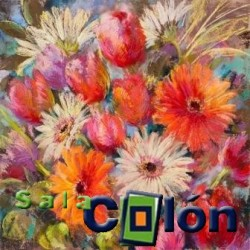 Láminas flores multicolor