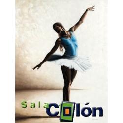 Lámina bailarina body azul