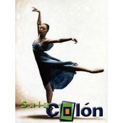 Lámina bailarina vestido azul