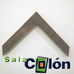Moldura rústica plana gris 4 cms.