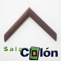Moldura plana marrón 4 cms.