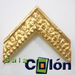Moldura labrada oro 10 cms.