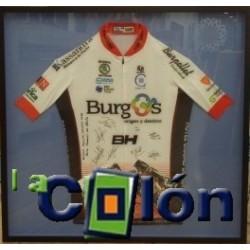 Enmarcado camiseta ciclista
