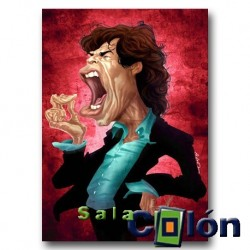 Caricatura Mick jagger - The Rolling Stones