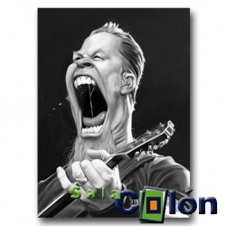 Caricatura James Hetfield de Metallica