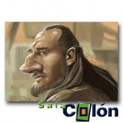 Caricatura star wars Qui Gon Jinn