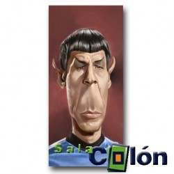 Caricatura spock de Star Trek