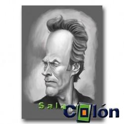 Caricatura Clint Eastwood
