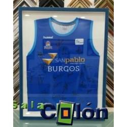Enmarcacion camiseta baloncesto Burgos