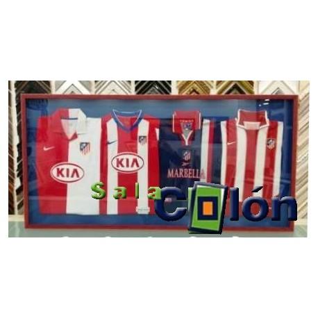 Enmarcación 4 camisetas Atco. de Madrid